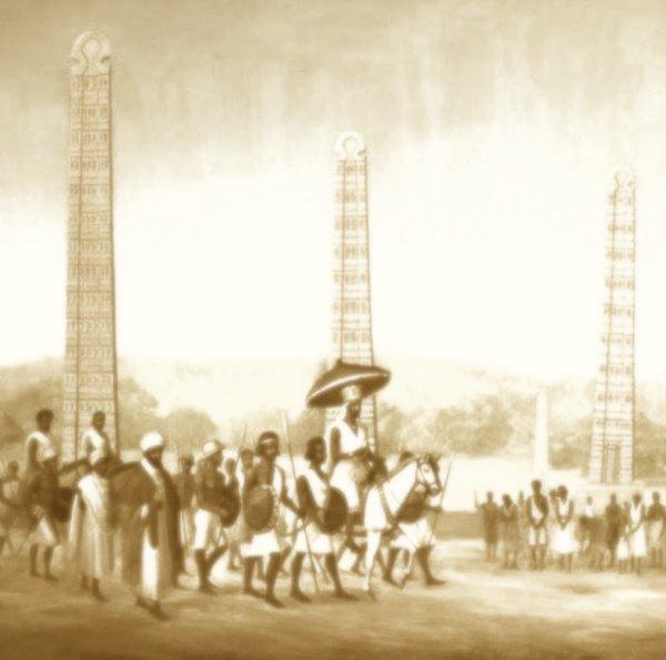 Axum obelisks and town life image